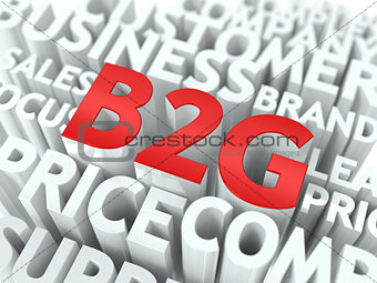 B2G. The Wordcloud Concept.