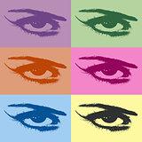 Eye silhouettes