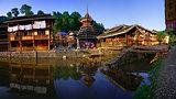 Zhaoxing Town, Liping County, Guizhou, China. Zhaoxing Dong Vill