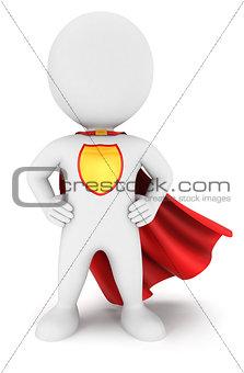 3d white people superhero return