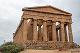 The ruins of Temple of Concordia, Valey of temples, Agrigento, S