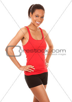 pretty fitness woman