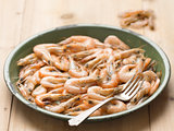 cooked shrimps