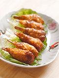 vegetarian mock chicken drumsticks