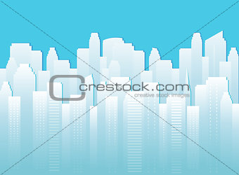background with urban landscape