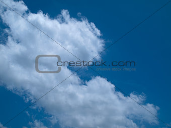 Blue sky with Left white Clouds