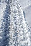 Track on snow