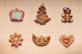 Set of christmas cookies