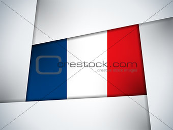 France Country Flag Geometric Background