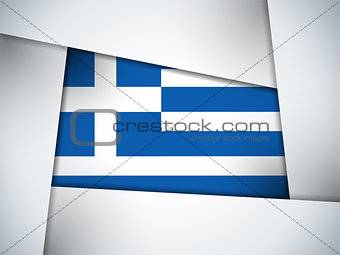 Greece Country Flag Geometric Background