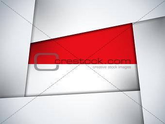 Monaco Country Flag Geometric Background