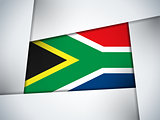 South Africa Country Flag Geometric Background
