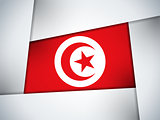 Tunisia Country Flag Geometric Background