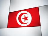 Tunisia Country Flag Geometric Background