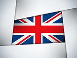 UK Country Flag Geometric Background