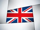 UK Country Flag Geometric Background