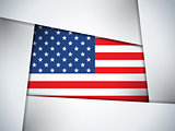 USA Country Flag Geometric Background