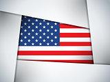 USA Country Flag Geometric Background
