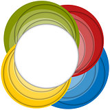 Colorful Shadows Frame with Circles Banner