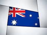 Australia Country Flag Geometric Background