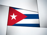 Cuba Country Flag Geometric Background