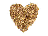 coriander seeds a heart
