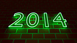 New Years 2014 - neon light