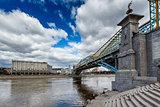 Bogdan Khmelnitsky Bridge and Kievsky Railway Station in Moscow,