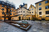 Backyard in Stockholm Old Town (Gamla Stan), Sweden
