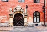 Ornate Marble Gate in Stockholm Old Town (Gamla Stan), Sweden