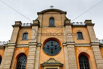 Cathedral of Saint Nicholas (Storkyrkan) Facade, Stockholm, Swed
