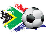 South Africa Soccer Grunge Design