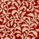 Seamless pattern with decorative flourishes