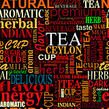 Seamless background with tea tags