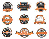 Set of retro premium labels