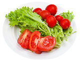 green lettuce and red tomatoes