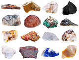 set of rock minerals