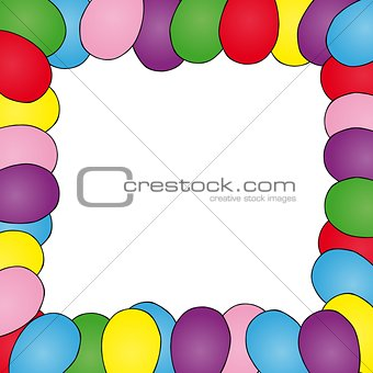 Frame with ballons