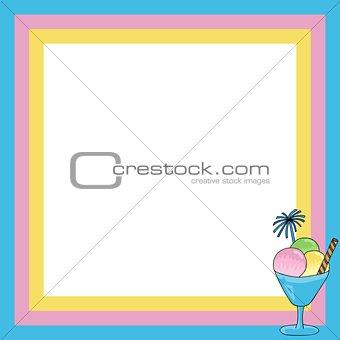 Frame with sundae