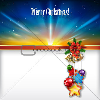 Abstract Christmas background with handbells and decorations