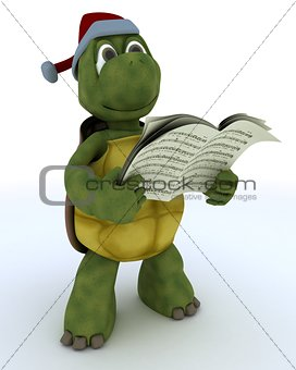 tortoise singing christmas carols