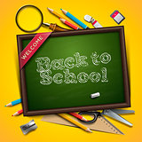 Welcome back to school, vector Eps10 illustration.