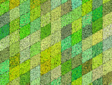 3d mosaic abstract green backdrop