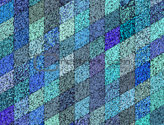 3d mosaic abstract blue backdrop