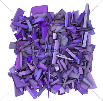 3d abstract shape pattern purple backdrop