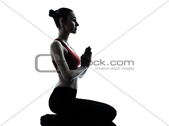 woman exercising yoga meditation