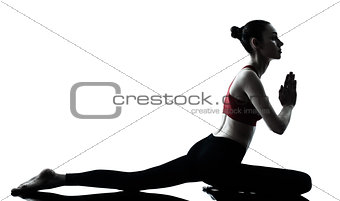 woman exercising yoga