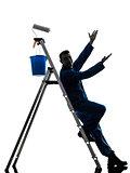 man house painter worker worker silhouette