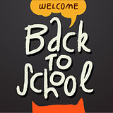 Welcome Back to school background, vector Eps10 illustration.