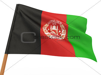 flag fluttering in the wind. Afghanistan